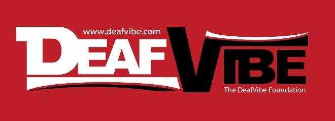 Deafvibe logo foundation red