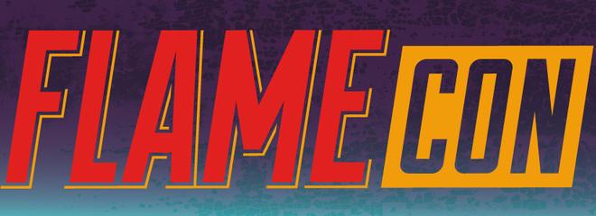 Flame con logo banner