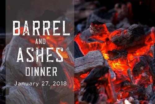 Barrel and ashes dinner logo