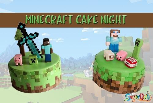 Miecraft cake night
