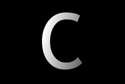 Letter c 01