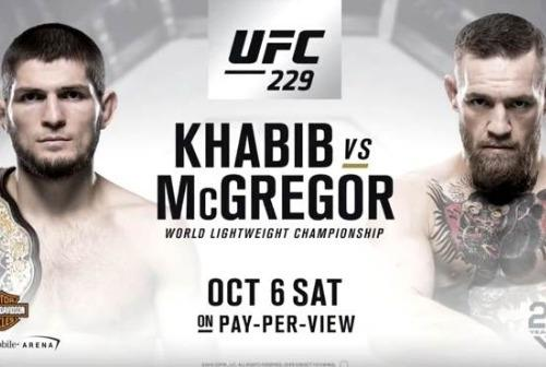 Ufc 229 khabib vs conor fight poster 750