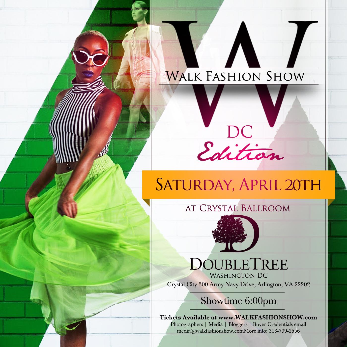 Walk fashion sho dc flyer