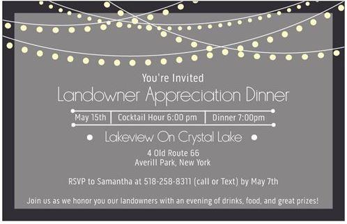 2019 land owner dinner invite