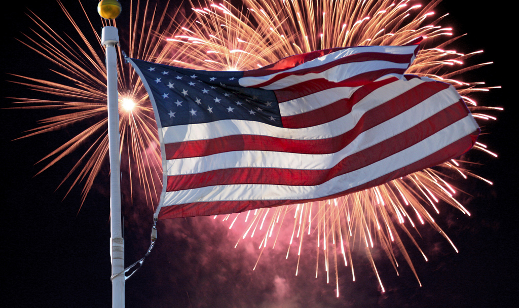 Americas celebration 4th of july flag