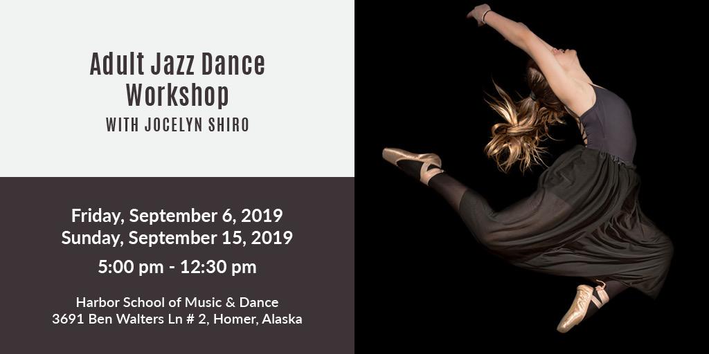 8 adult jazz dance workshop