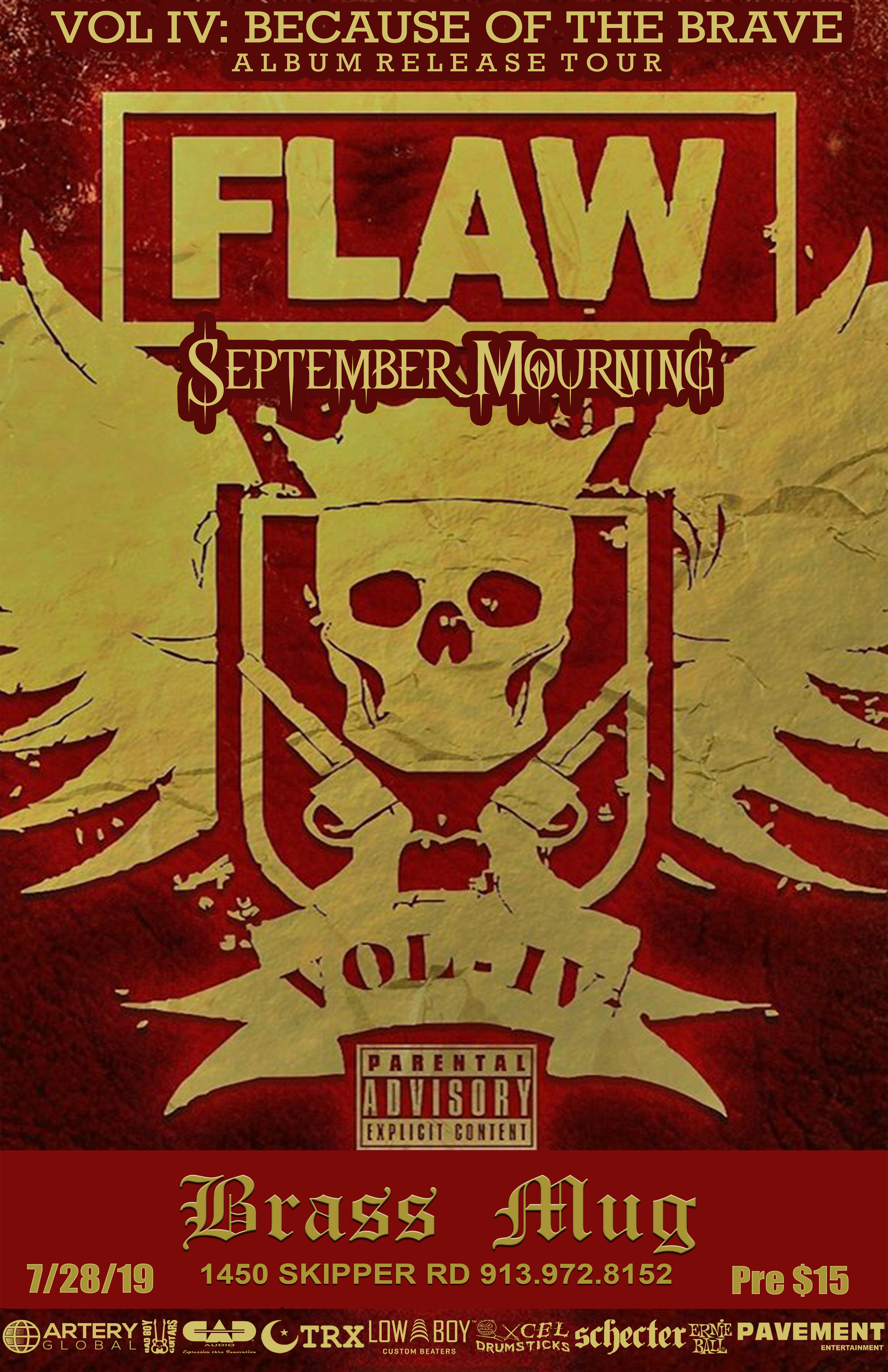 Flaw  september mourning   tour admat copy