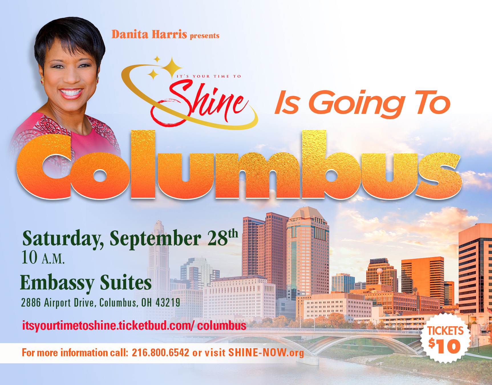 Shine columbus ticket flyer