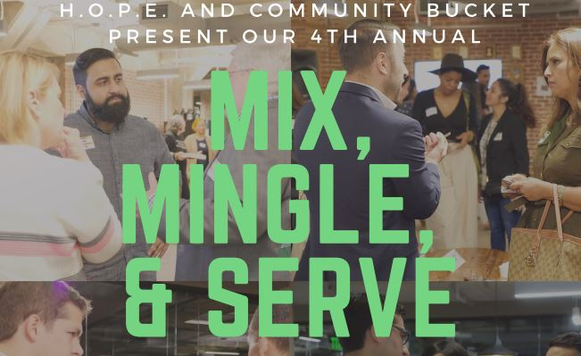 Mix mingle serve