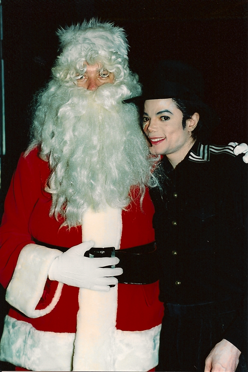 Mj and santa brad close up