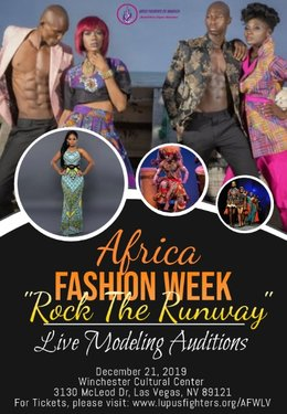 Rock the runway african fashion week live auditions 2019