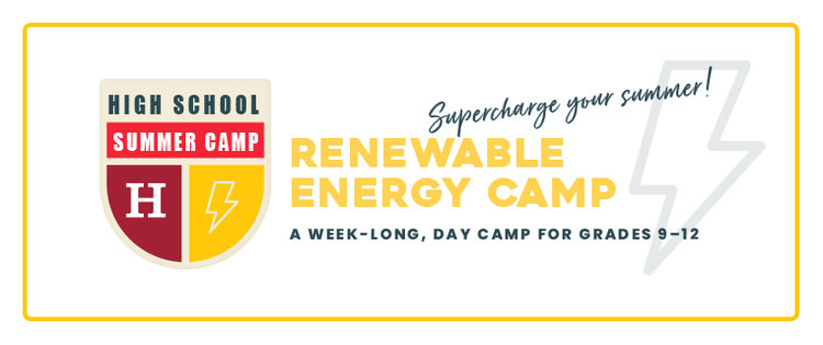 Renewable energy camp logo 2020