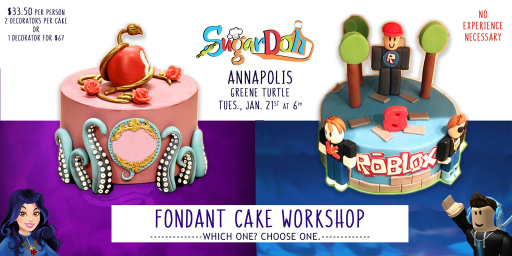 Roblox Number Cake Annapolis Descendants Or Roblox Cake Workshop Buy Tickets Ticketbud
