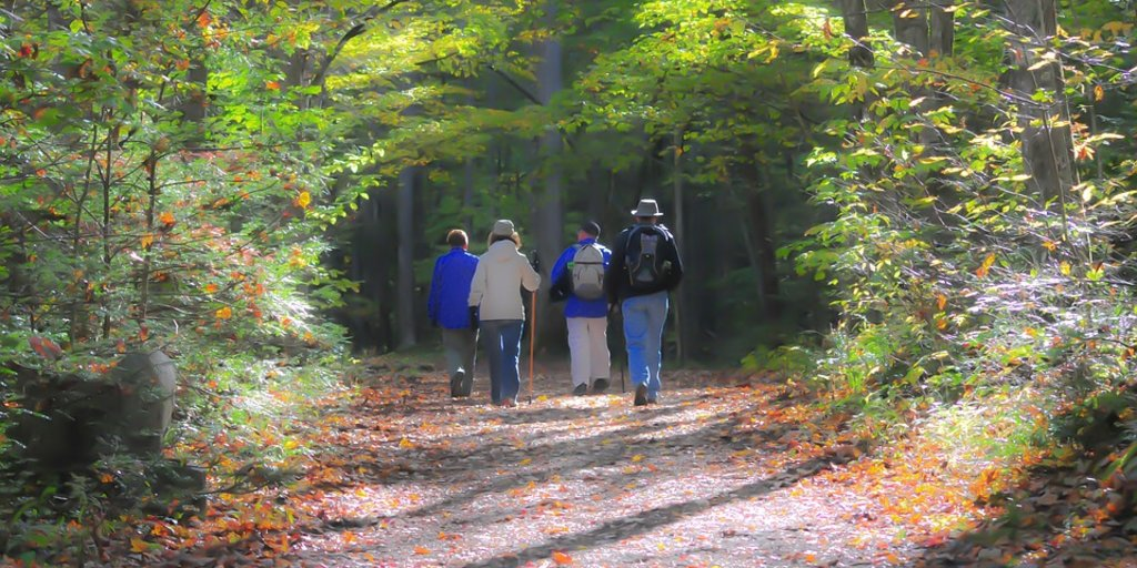 Women hiking for pigeon forge event