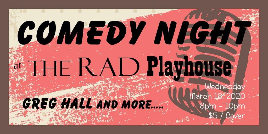 Comedy night ticket bud graphic