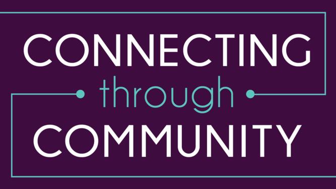 Connecting through community logo