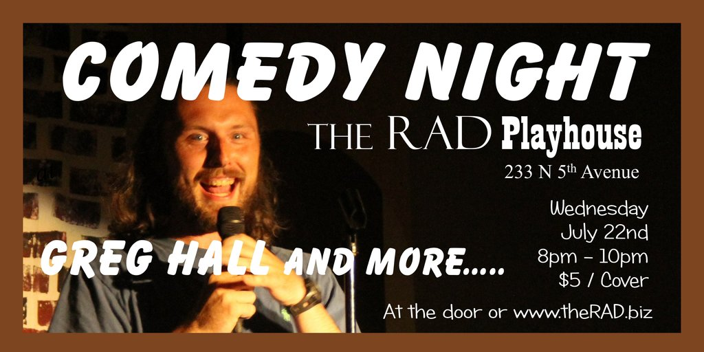 Comedy night ticket graphic 7.22