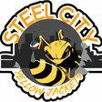 Finished steel city logo print 1