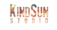Kind sun logo vibrant sunset large