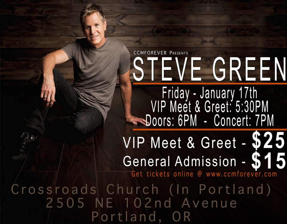 Purchase online ticket for steve green in concert m4hsunfo
