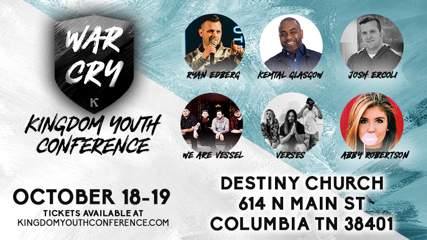 Purchase Online Ticket for Kingdom Youth Conference - Columbia TN