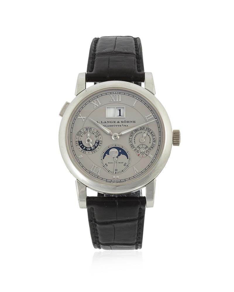 Lot 58: A. Lange & Söhne platinum automatic wristwatch Image
