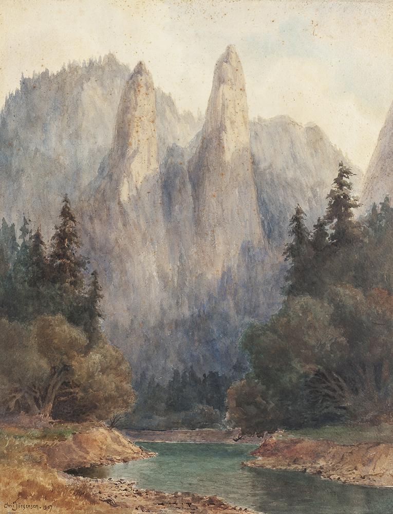 Lot 2006: Christian August Jorgensen (1860-1935 Piedmont, CA) Image