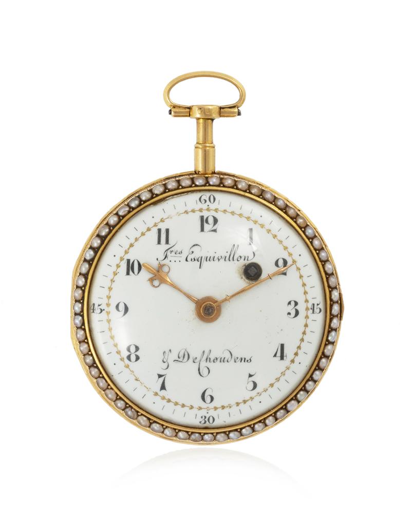 Lot 1011: An open-face pocket watch, Esquivillon & De Choudens Image