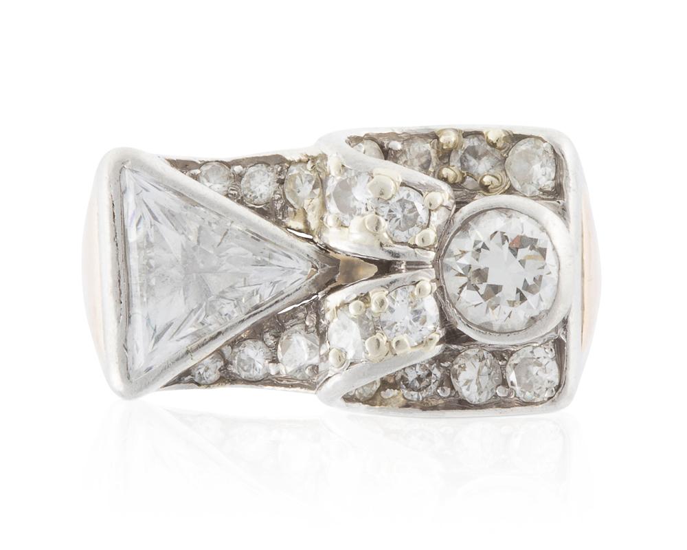 Lot 1018: A diamond ring Image