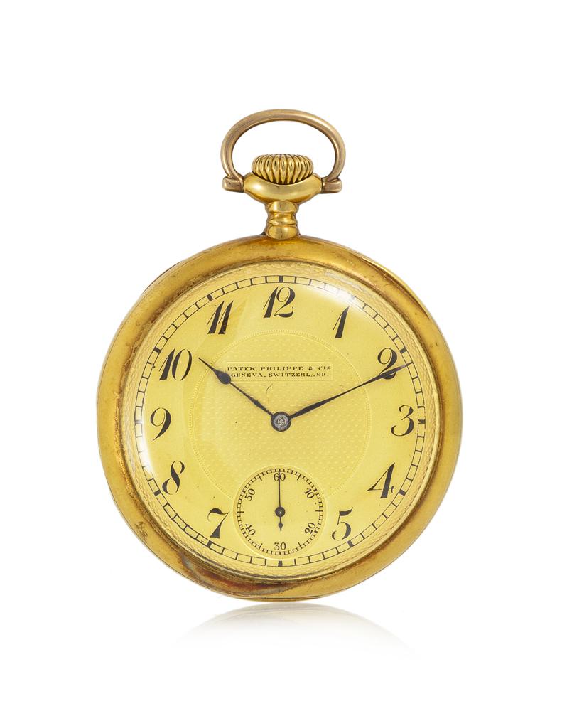 Lot 1029: A Patek Philippe 18k yellow gold pocket watch Image