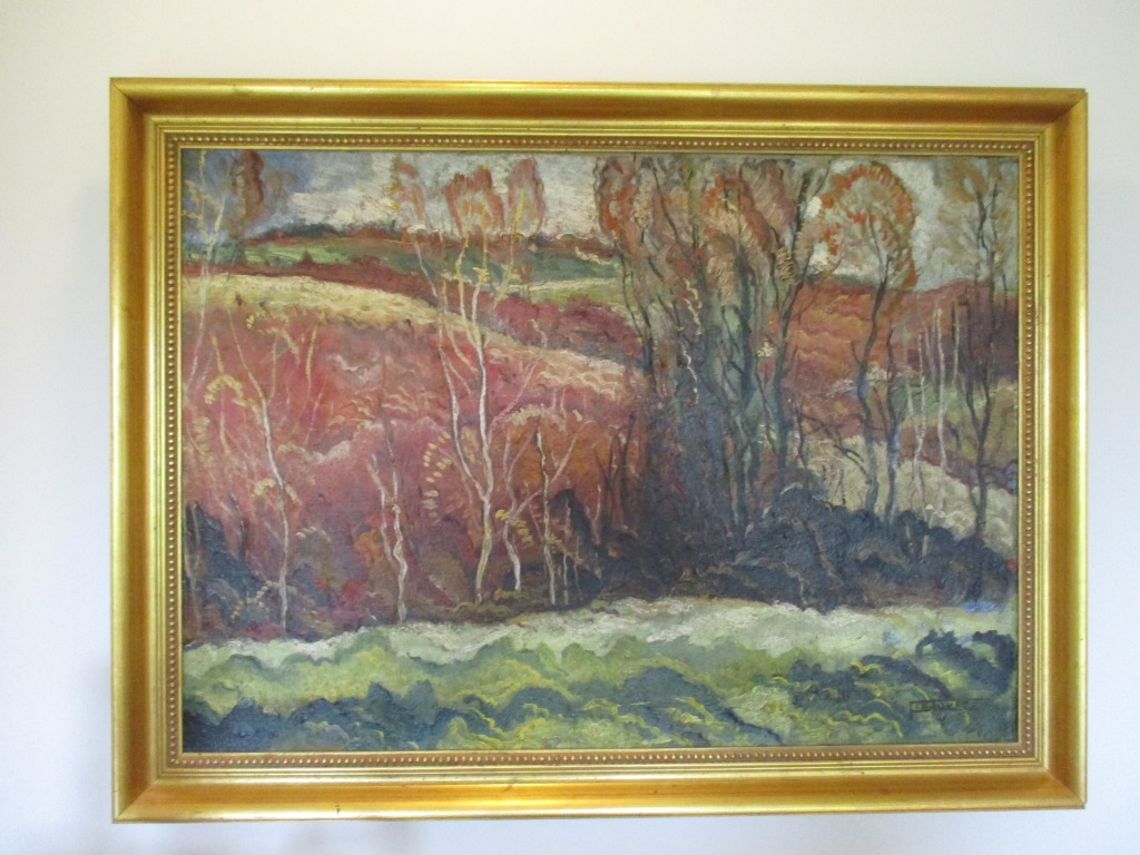 Milan Petrovits Oil Painting On Board - Signed