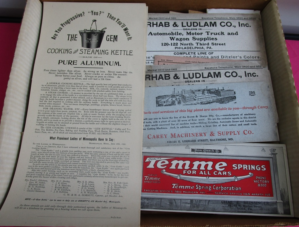 Early Ink Blotters And Misc Advertising