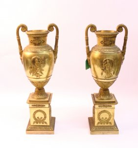 Pair Of French Empire Urns