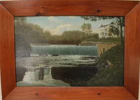 "Louis Larson ""Woodbourn Pond""  Painting"