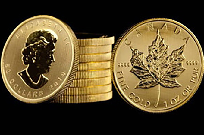 Gold Maple Leaf Coins (4)