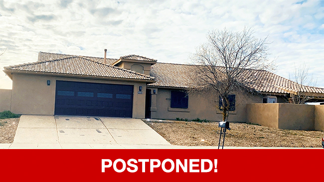 POSTPONED – Live Auction: Single Family Home (2003 W. Corte Rancho Paraiso) In Tucson, Arizona