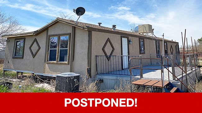 POSTPONED – Live Auction: Manufactured Home (7065 S. Sandpiper Avenue) In Tucson, Arizona
