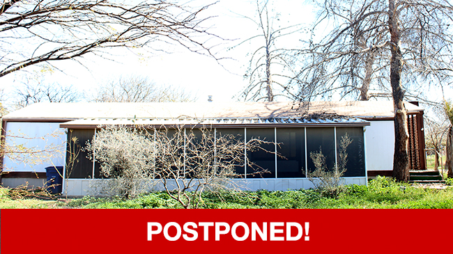 POSTPONED – Live Auction: Manufactured Home (7045 S. Sandpiper Avenue) In Tucson, Arizona