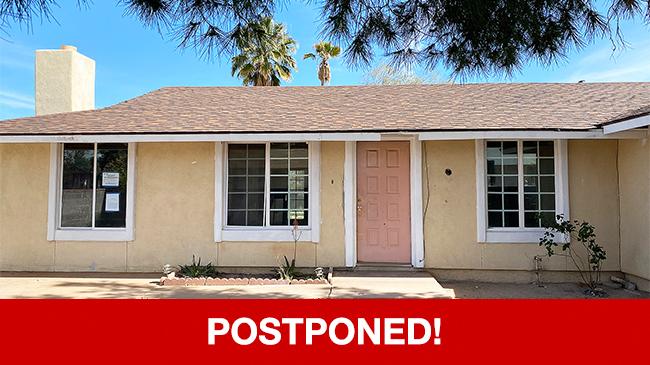 POSTPONED – Live Auction: Single Family Home (6621 S. Vereda De Las Casitas) In Tucson, Arizona
