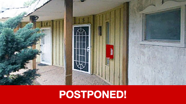 POSTPONED – Live Auction: Townhouse (6141 Denis Lane, Unit 5A) In Odessa, Texas