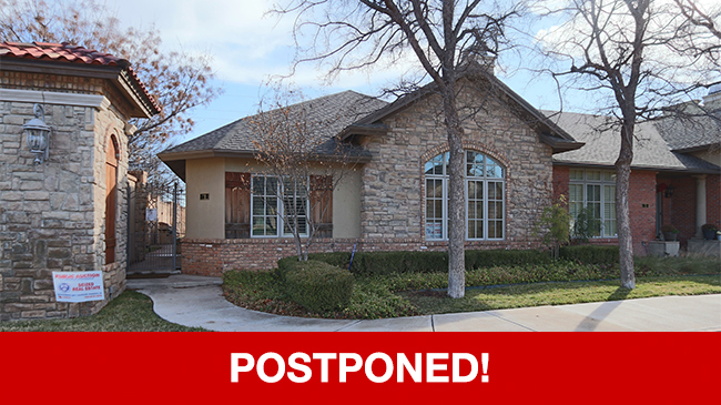 POSTPONED – Live Auction: Townhouse (4501 19th Street, Unit 1) In Lubbock, Texas