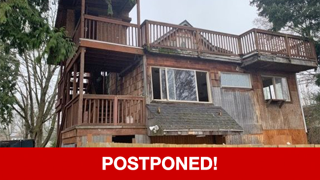 POSTPONED – Live Auction: Single Family Home (8310 37th Avenue S.) In Seattle, Washington