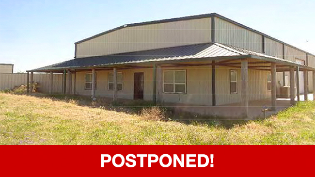POSTPONED – Live Auction: Single Family Home (3700 S. County Road 1178) In Midland, Texas