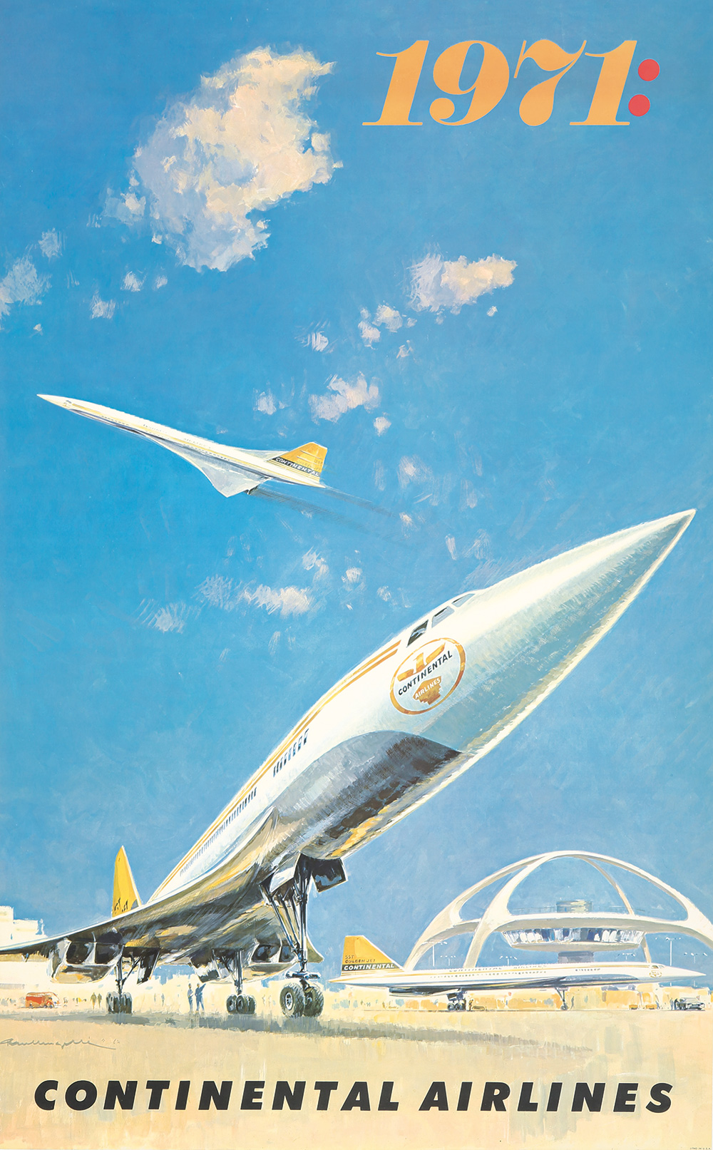 89. Continental Airlines 1971.