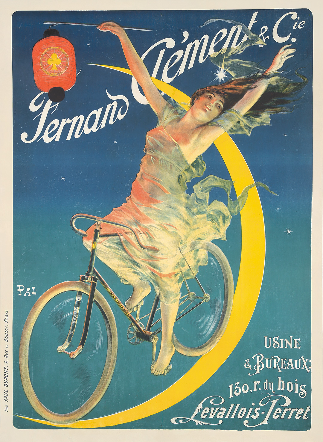 BICYCLE VINTAGE POSTER Rouxel /& Dubois French Ad RARE
