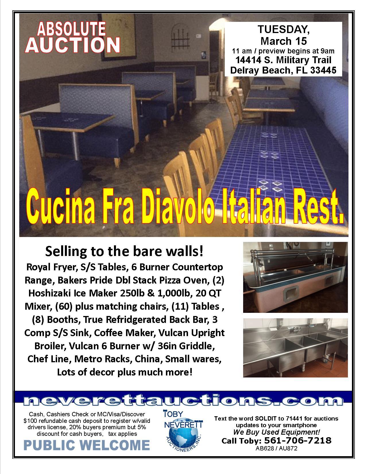 FLYER FOR 3.15 Cucina Fra Diavolo