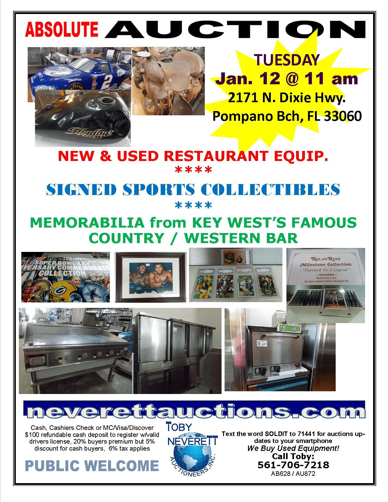 FLYER FOR Jan Auction