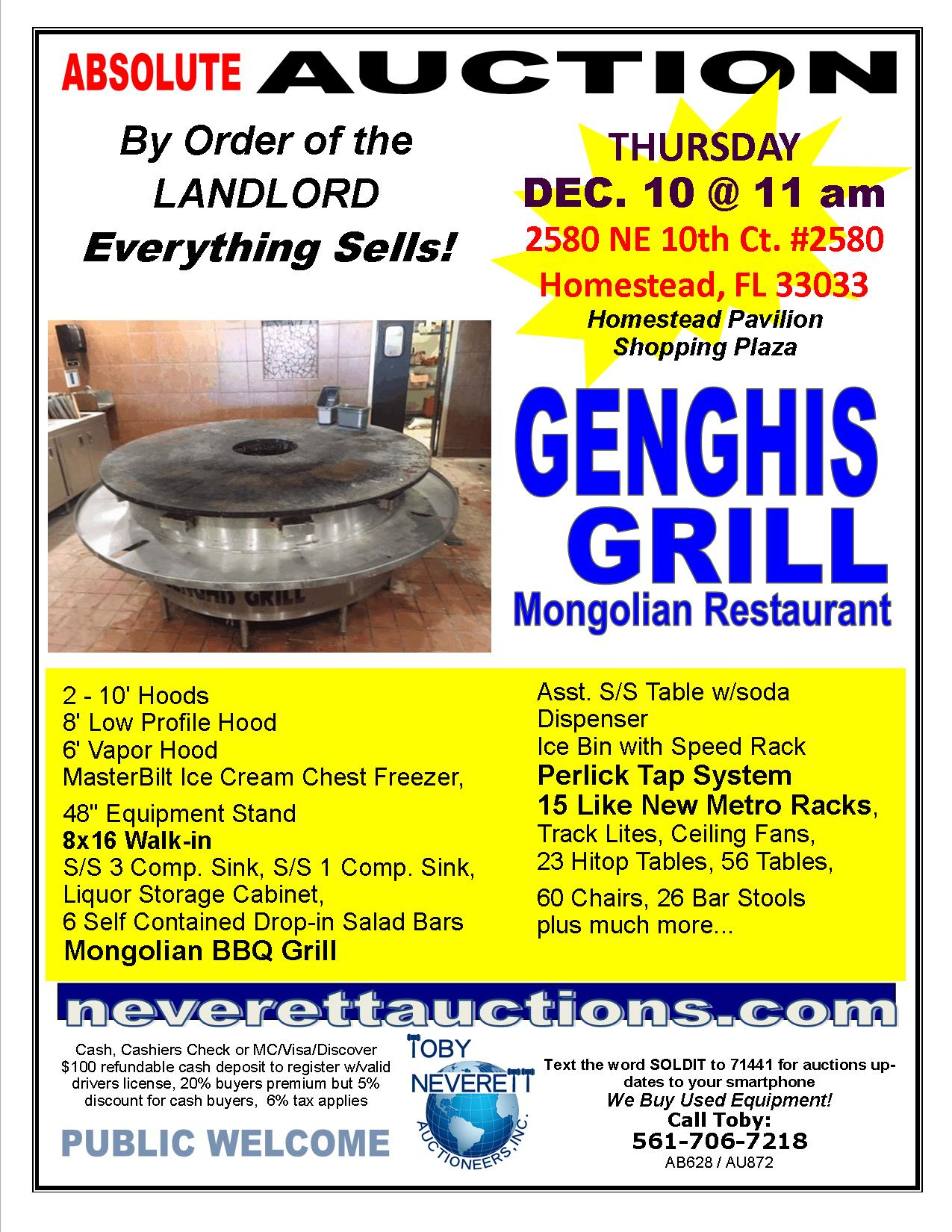 FLYER FOR Genghis