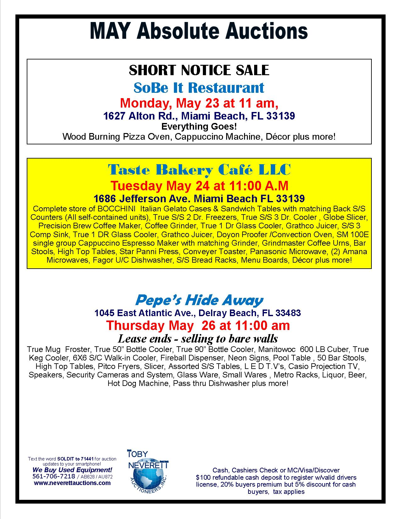 May Auctions