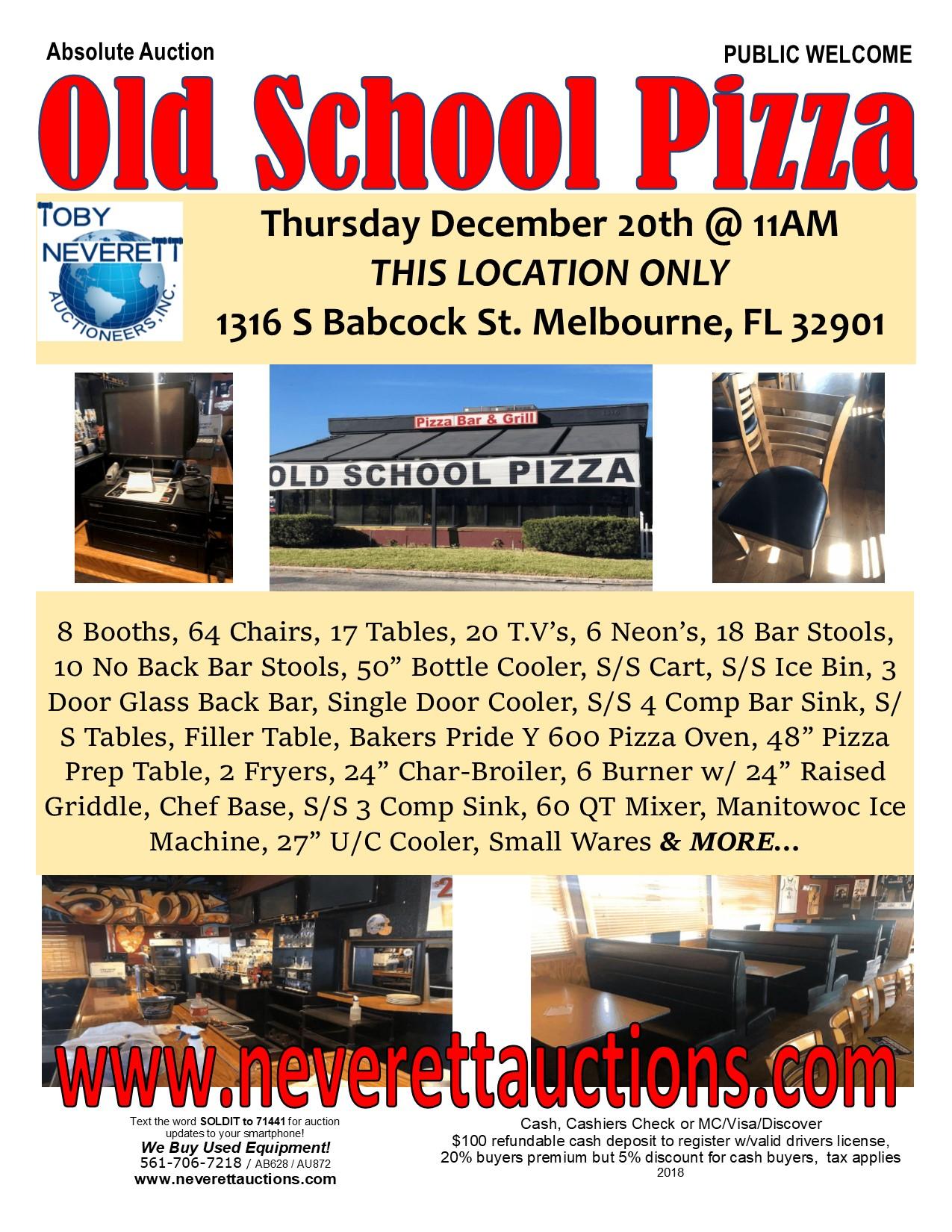 Old School Pizza Flyer